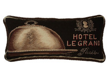Le Grand Hotel Needlepoint Pillow