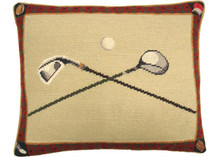 Golf Club Needlepoint Pillow 2