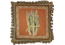 Asparagus Needlepoint Pillow