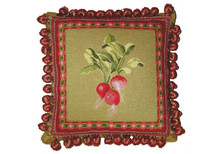 Radish Needlepoint Pillow