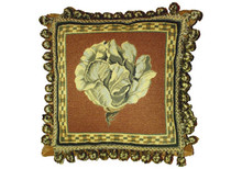 Cabbage Needlepoint Pillow