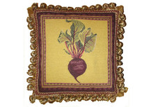 Turnip Needlepoint Pillow