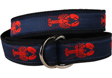 Lobster Ribbon Belt (D-Rings)