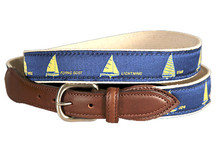 Sailboat Belt on Navy