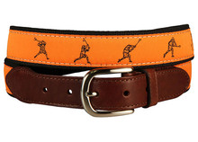 Lacrosse Belt on Orange