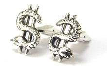 Dollar Sign Snake Cufflinks