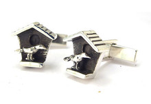 Birdhouse Cufflinks