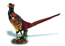 Pheasant Hood Ornament (Large, Enamel Finish)