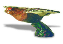 Grouse Hood Ornament (Large, Flying, Enamel Finish)