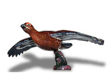 Grouse Hood Ornament (Flying, Small, Enamel Finish)