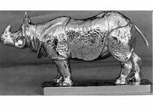 Rhinoceros Hood Ornament