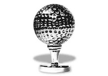 Golf Ball on Tee Hood Ornament