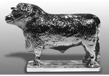 Friesian Bull Hood ornament