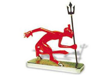 Devil with Trident Hood Ornament (Enamel Finished)