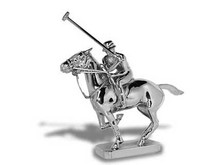 Polo Pony and Player Hood Ornament