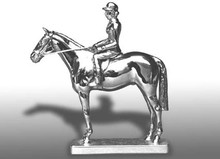 Hunter with Rider Hood Ornament (Small)