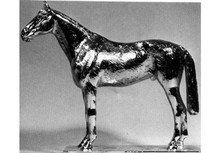 Hunter Horse Saddled Hood Ornament