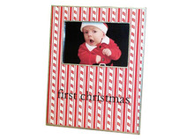 Candy Cane Stripe Decoupage Picture Frame