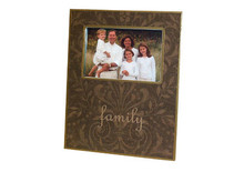 Brown Damask Decoupage Picture Frame