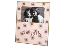 Brown Daisy on Pink Decoupage Picture Frame