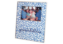 Blue Waverly Decoupage Picture Frame
