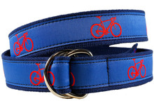 road bike ribbon belt II on Blue