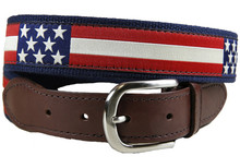 retro flag tab ribbon belt