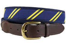 rep stripe tab belt navy & yellow