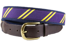 rep stripe tab belt Purple & Yellow