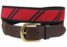 rep stripe tab belt red and black