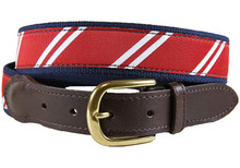 rep stripe ribbon belt red & white