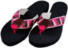 Three Labs Pink Flip Flops