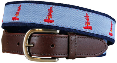 Bell Buoy Leather Tab Ribbon Belt