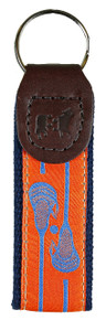 Lacrosse Key Fob Blue on Orange