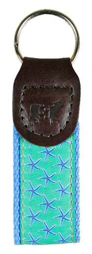 Jade Starfish Key Fob