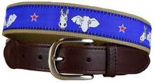 Donkey and Elephant Leather Tab Belt