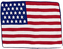"American Flag Needlepoint Pillow 14""x18"""