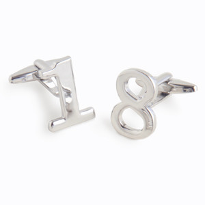 Anniversary year cufflinks, great gift for your husband and perfect for every year from 01 to 99