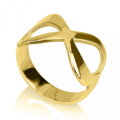 24K Gold Plated Infinity Ring