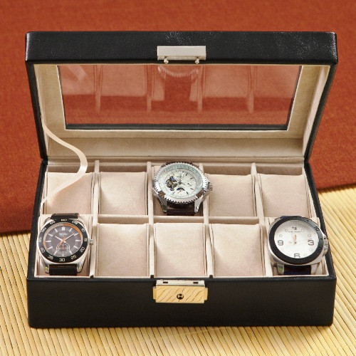 3rd anniversary gift - Personalized Men's Watch Box