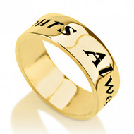 14K Gold Personalized Mens Ring