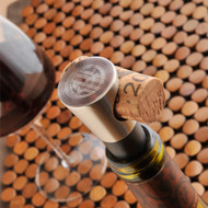 Monogram silver plated wine stopper