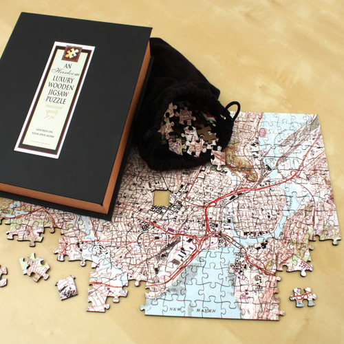 Australian Wedding Anniversary Gifts By Year: Wooden Anniversary Heirloom Jigsaw Puzzle Map