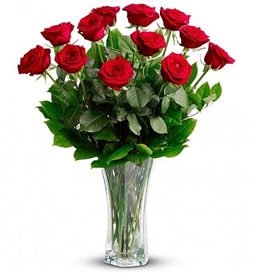 Anniversary red rose bouquet