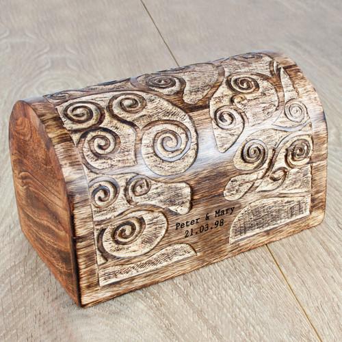 Personalized Wooden Anniversary Treasure Box
