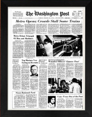 Front page of Washington Post from 2007 framed for your 10th anniversary