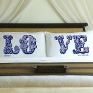 Sapphire Anniversary Love pillows