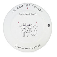 Fun personalized Anniversary plate