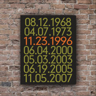Couple's Important Dates Canvas