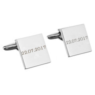 Cufflinks engraved with your Wedding Date